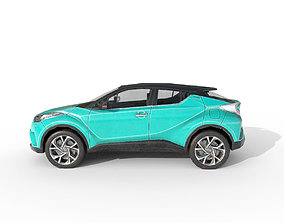3D model Low Poly Car Toyota C-HR 2017 Green Mica