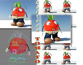 3D model Tomato Cartoon Character