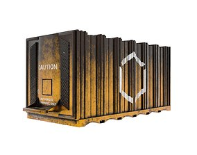 Cargo Container - High and low Poly versions 3D asset