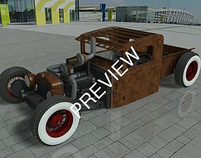 Rat Rod Pickup obj dwg stp sat 3D model