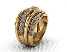 Ring interlaced stripes 3D printable model