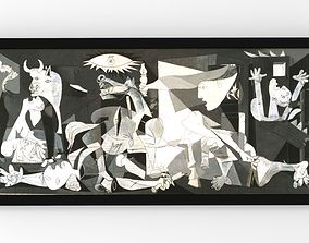 Guernica painting by Pablo Picasso for 3D