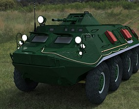 BTR-60 low-poly 3D model game-ready