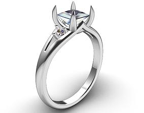 PRT1 - Engagement Ring 3D CAD File