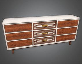 MCN - Retro Dresser Midcentury 02 - PBR Game 3D model