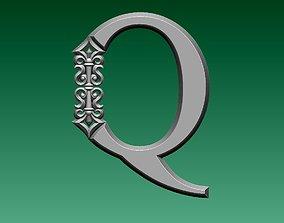 3D print model letter Q