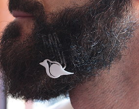 3D print model Robin for beard - lateral wearing