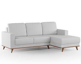 3D model Off White Sofa