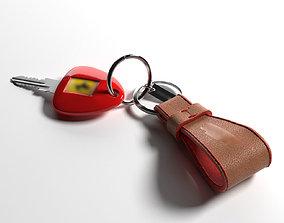 Sports car keys 3D model keychain