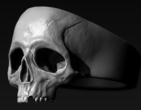 Skull Ring rings 3D print model