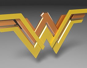 3D printable Wonder Woman logo other