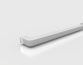 3D model Steel Silver Towel Holder Tempo by ARTrzcinski
