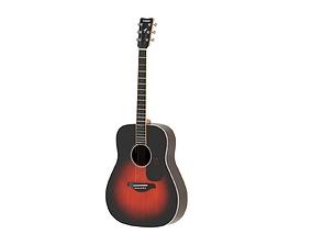 Yamaha Acoustic Guitar F830 3D model