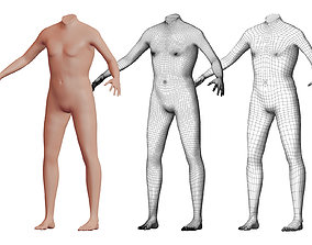 Character 19 High and Low-poly - Body male 3D