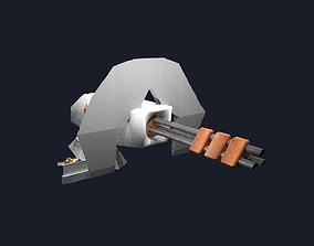 Automatische Riesen-Minigun 3D model
