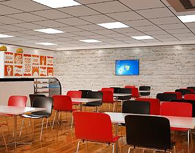 3D Cafeteria Interior Design