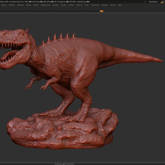 Trex Tyrannosaurus Rex Dinosaure 3d print model