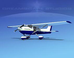 3D Cessna 172 Skyhawk 1976 State Police