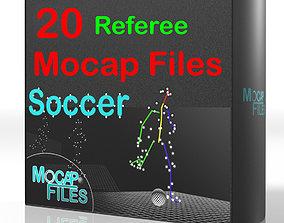 11-Soccer football motion capture animations - 3D model