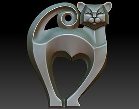 walldecor Cat pendant 3D print model