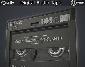 Digital Audio Tape 3D asset
