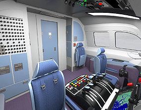 Detailed Aircraft Cockpit 3D model