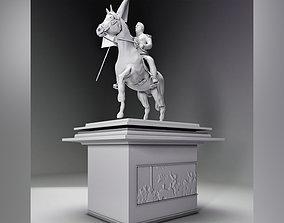 3D print model general san martin flag statue