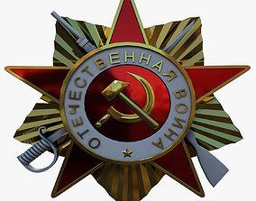 Soviet Star Badge 3D asset