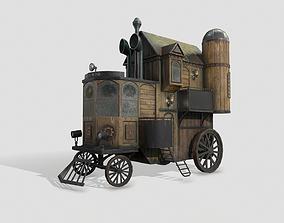 Steampunk house on wheels 3D model