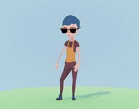 3D asset Simple Girl Tina