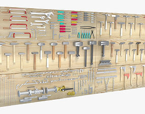 Big Hand Tools Set 3D model