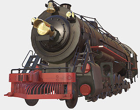 3D model Low poly PBR Steam Train