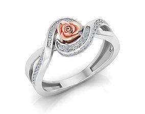 3D printable model jewellery Rose Ring 16