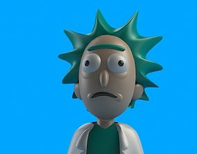 adult Rick from Rick and Morty 3D printable model