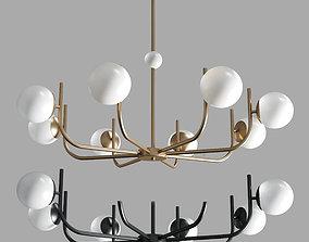 Maytoni Pendant Lamp Rendez-vous gold and black 3D asset