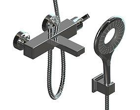 3D model 2 Shower mixers