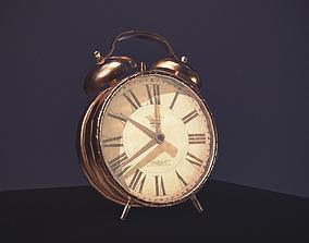 3D asset Alarm Clock low poly Game ready