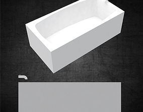 Tub for bathroom minimal for architects and 3D asset
