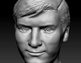 Male head 10 3D print model