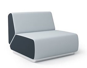 Black And Grey Retro Chair 3D model