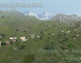 10 PBR Mountain Houses - LowPoly Himalaya 3D model 2