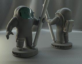 3D printable model among us stylus pen holder