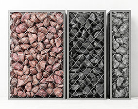Gabion medium rock stone 3D