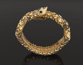 Ouroboros ring - original 3D printable model ouroboros