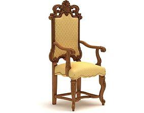 Carved armchair - 3 3D