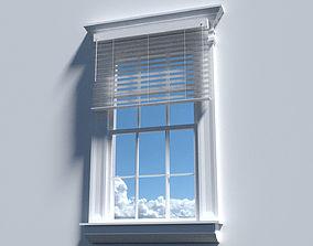 game-ready Victorian Window 3D Model