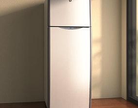 GE Top Freezer Refrigerator 3D model