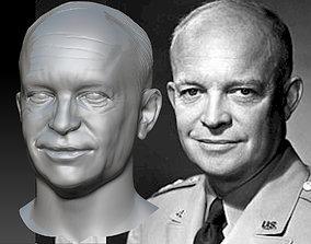 Dwight Eisenhower 3d model 3d print bust