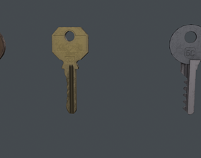 3D asset Low poly game ready keys model