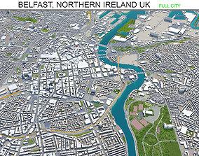 Belfast Northern Ireland UK 30km 3D asset